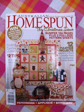 Christmas in july homespun mag