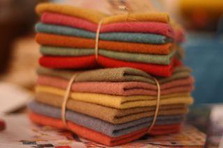 Felted wool yummies