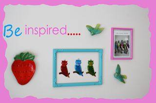 Inspirational wall collage with border