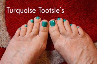 Turquoise tootsies