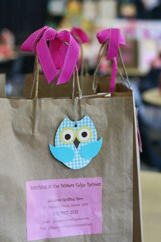 Owl goodie bag close up