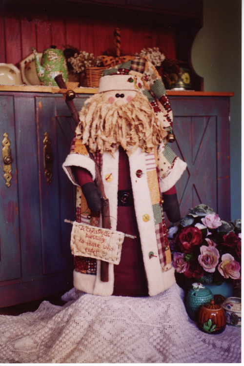 Ol' St Nick Santa doorstop NR1
