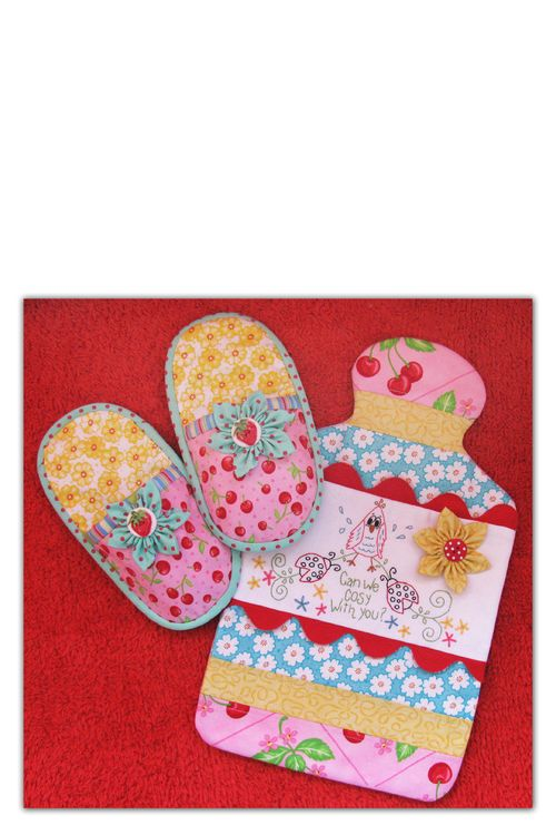 Cosy Comforts slippers and hot water bottle cover   NR43