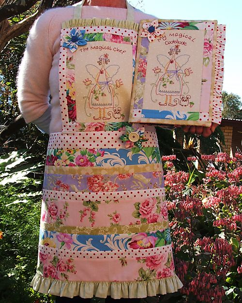 The Enchanted Kitchen - Apron and cookbook cover set   NR33
